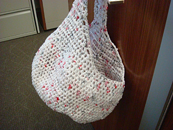 Plarn bags and purses - made from recycled plastic bags