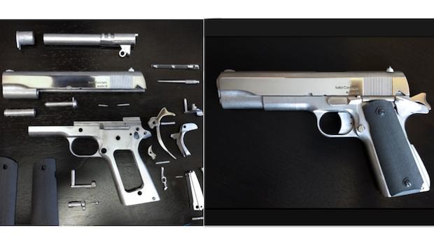 3D printed metal pistol
